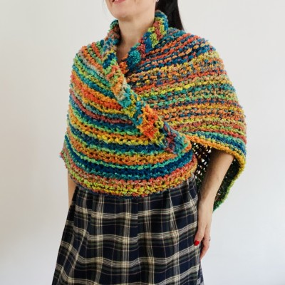 Rainbow Outlander Claire rent shawl orange fall wool triangle shawl halloween knit shoulder wrap mohair celtic shawl Inspired Carolina shawl