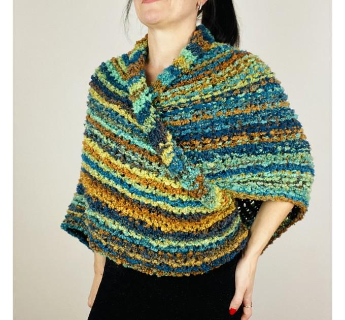 Blue Outlander Claire rent shawl warm knit shoulder wrap orange fall wool triangle shawl festival mohair shawl Inspired Carolina shawl  Shawl Wool Mohair  1