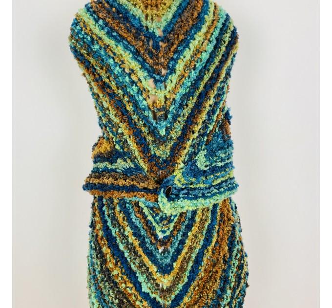 Blue Outlander Claire rent shawl warm knit shoulder wrap orange fall wool triangle shawl festival mohair shawl Inspired Carolina shawl  Shawl Wool Mohair  3