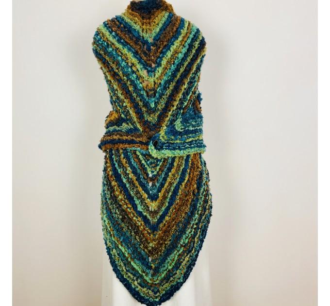 Blue Outlander Claire rent shawl warm knit shoulder wrap orange fall wool triangle shawl festival mohair shawl Inspired Carolina shawl  Shawl Wool Mohair  4