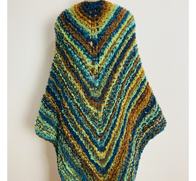 Blue Outlander Claire rent shawl warm knit shoulder wrap orange fall wool triangle shawl festival mohair shawl Inspired Carolina shawl  Shawl Wool Mohair  2