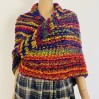 Violet Outlander Claire rent shawl warm knit shoulder wrap sontag fall wool triangle shawl red celtic mohair shawl Inspired Outlander shawl