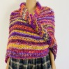 Pink Outlander rent Claire Shawl knit warm shoulder wrap orange mohair sontag wool triangle shawl for mom wife inspired Outlander multicolor