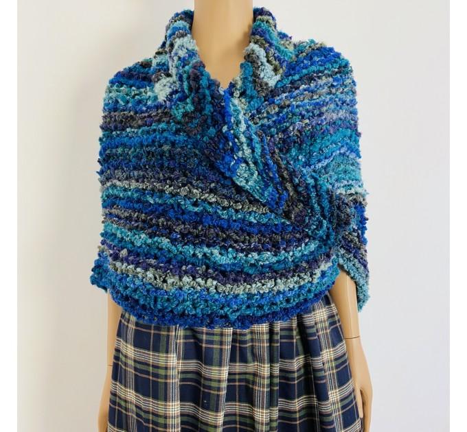 Navy blue Outlander Claire rent shawl winter wool triangle shawl sontag celtic shawl warm knit shoulder wrap Inspired Outlander shawl mohair  Shawl Wool Mohair