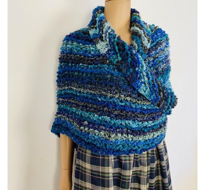 Navy blue Outlander Claire rent shawl winter wool triangle shawl sontag celtic shawl warm knit shoulder wrap Inspired Outlander shawl mohair  Shawl Wool Mohair  1