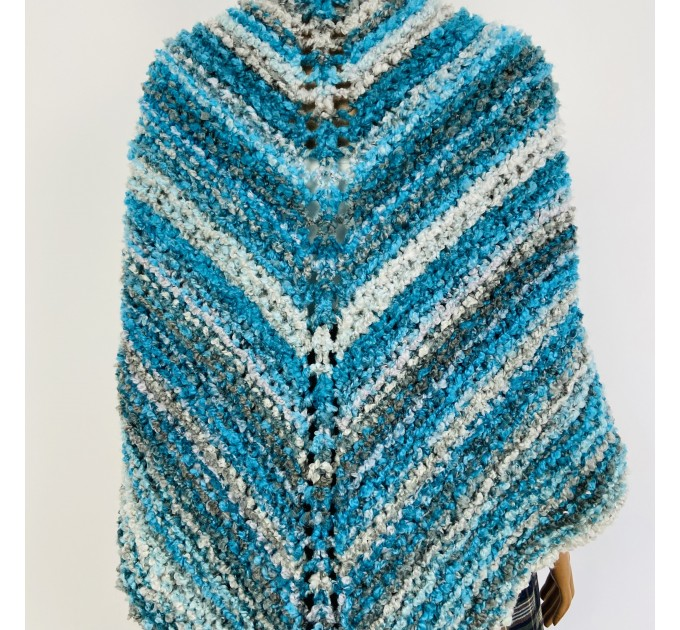 Blue Outlander Claire rent shawl fall winter wool sontag triangle shawl gray celtic knit shoulder wrap mohair Inspired Outlander shawl  Shawl Wool Mohair  2