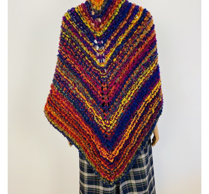 Violet Outlander Claire rent shawl warm knit shoulder wrap sontag fall wool triangle shawl red celtic mohair shawl Inspired Outlander shawl  Shawl Wool Mohair  2