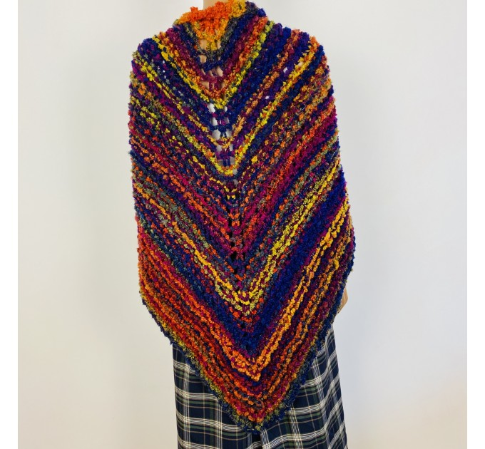 Violet Outlander Claire rent shawl warm knit shoulder wrap sontag fall wool triangle shawl red celtic mohair shawl Inspired Outlander shawl  Shawl Wool Mohair  3