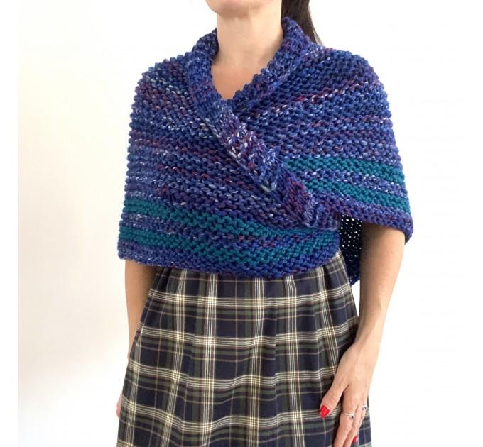 Outlander inspired Claire shawl blue rent Carolina shawl sontag triangle wool shawl warm knit shoulder wrap winter celtic shawl  Shawl Wool Mohair  1