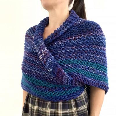 Outlander inspired Claire shawl blue rent Carolina shawl sontag triangle wool shawl warm knit shoulder wrap winter celtic shawl