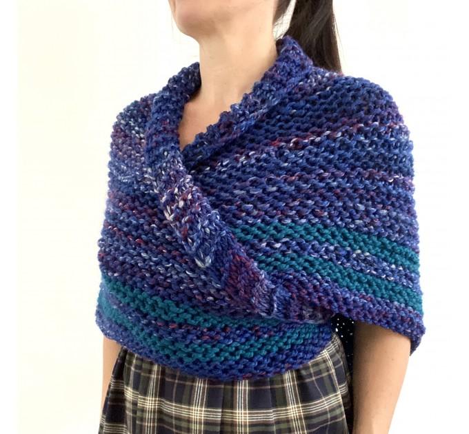 Outlander inspired Claire shawl blue rent Carolina shawl sontag triangle wool shawl warm knit shoulder wrap winter celtic shawl  Shawl Wool Mohair