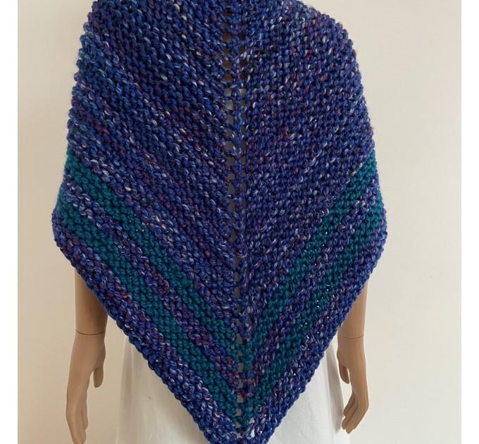 Outlander inspired Claire shawl blue rent Carolina shawl sontag triangle wool shawl warm knit shoulder wrap winter celtic shawl  Shawl Wool Mohair  2