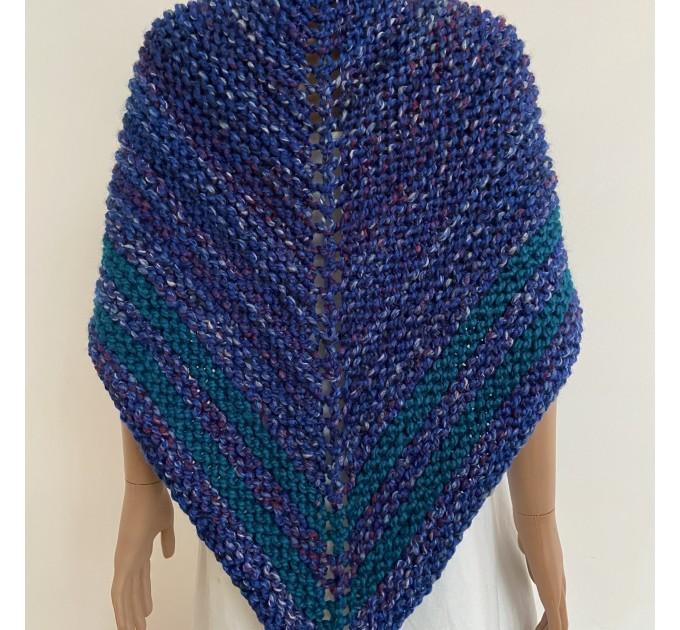 Outlander inspired Claire shawl blue rent Carolina shawl sontag triangle wool shawl warm knit shoulder wrap winter celtic shawl  Shawl Wool Mohair  3