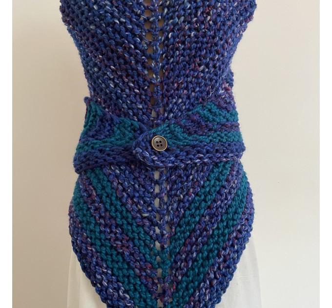 Outlander inspired Claire shawl blue rent Carolina shawl sontag triangle wool shawl warm knit shoulder wrap winter celtic shawl  Shawl Wool Mohair  4