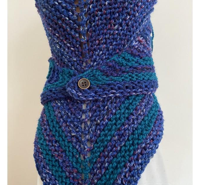 Outlander inspired Claire shawl blue rent Carolina shawl sontag triangle wool shawl warm knit shoulder wrap winter celtic shawl  Shawl Wool Mohair  5