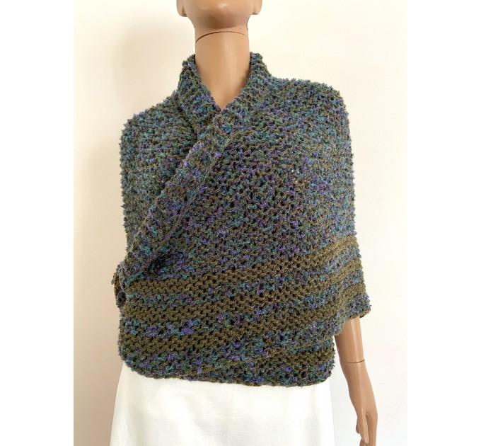 Lavander outlander shawl knit green alpaca wool shawl Carolina Shawl triangle sontag shawl shoulder wrap Claire's Shawl outlander costume  Shawl Alpaca
