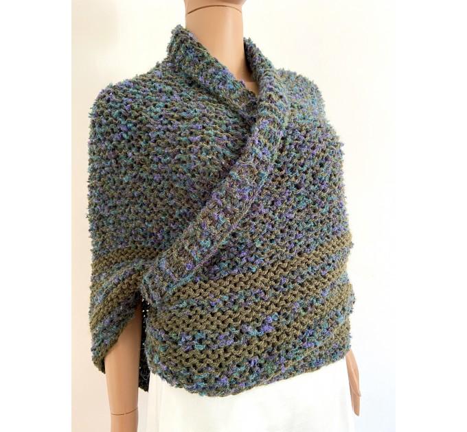 Lavander outlander shawl knit green alpaca wool shawl Carolina Shawl triangle sontag shawl shoulder wrap Claire's Shawl outlander costume  Shawl Alpaca  1