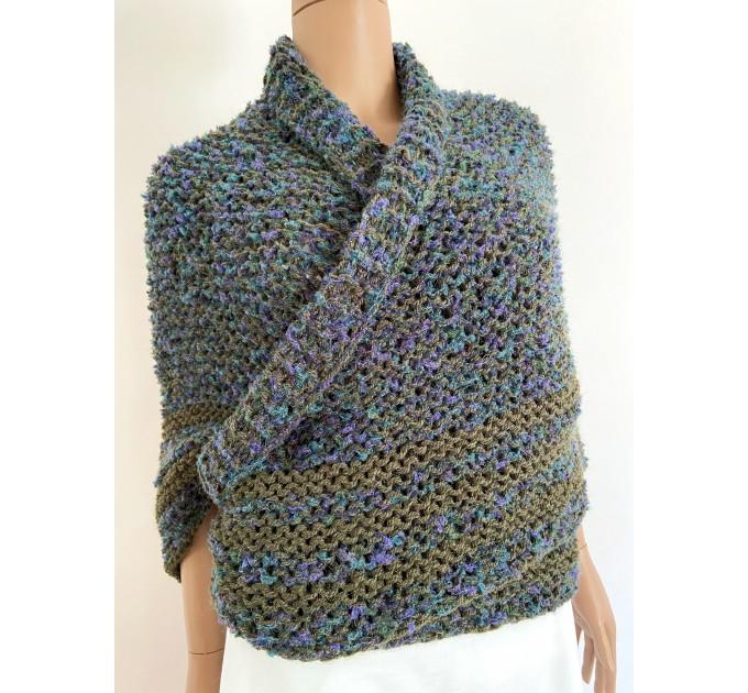 Lavander outlander shawl knit green alpaca wool shawl Carolina Shawl triangle sontag shawl shoulder wrap Claire's Shawl outlander costume  Shawl Alpaca  2