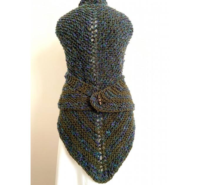 Lavander outlander shawl knit green alpaca wool shawl Carolina Shawl triangle sontag shawl shoulder wrap Claire's Shawl outlander costume  Shawl Alpaca  3