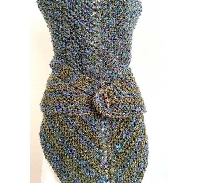 Lavander outlander shawl knit green alpaca wool shawl Carolina Shawl triangle sontag shawl shoulder wrap Claire's Shawl outlander costume  Shawl Alpaca  4