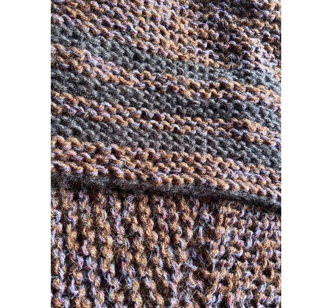 Brown Outlander Claire Shawl Triangle Shoulder alpaca, Outlander shawl knit Wrap angora, Wool Sontag shawl anniversary gift Mom Her Sister  Shawl Alpaca  5