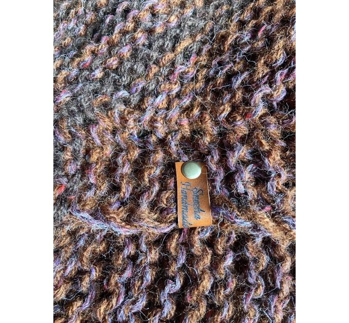 Brown Outlander Claire Shawl Triangle Shoulder alpaca, Outlander shawl knit Wrap angora, Wool Sontag shawl anniversary gift Mom Her Sister  Shawl Alpaca  6