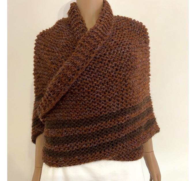 Brown Outlander Claire Shawl Triangle Shoulder alpaca, Outlander shawl knit Wrap angora, Wool Sontag shawl anniversary gift Mom Her Sister  Shawl Alpaca