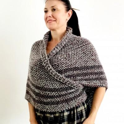 Gray Outlander shawl knit wrap angora, Claire shawl alpaca with button for fastening Sontag Triangle wool Shawl Chunky warm shoulder wrap