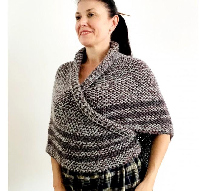 Gray Outlander shawl knit wrap angora, Claire shawl alpaca with button for fastening Sontag Triangle wool Shawl Chunky warm shoulder wrap  Shawl Alpaca