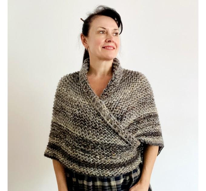 Brown outlander shawl Claire's Shawl sontag shawl alpaca wool shawl shoulder wrap triangle shawl Carolina Shawl outlander costume  Shawl Alpaca  1