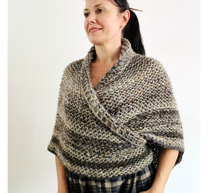 Brown outlander shawl Claire's Shawl sontag shawl alpaca wool shawl shoulder wrap triangle shawl Carolina Shawl outlander costume  Shawl Alpaca