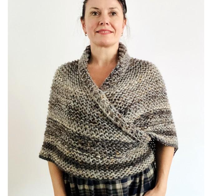 Brown outlander shawl Claire's Shawl sontag shawl alpaca wool shawl shoulder wrap triangle shawl Carolina Shawl outlander costume  Shawl Alpaca  2