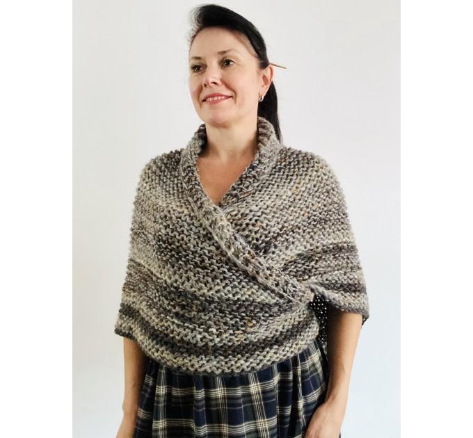 Brown outlander shawl Claire's Shawl sontag shawl alpaca wool shawl shoulder wrap triangle shawl Carolina Shawl outlander costume  Shawl Alpaca  3