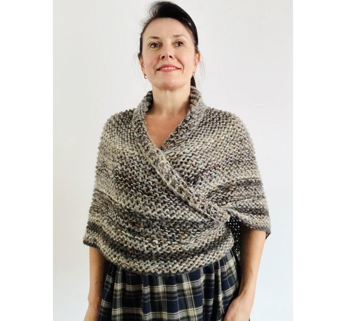 Brown outlander shawl Claire's Shawl sontag shawl alpaca wool shawl shoulder wrap triangle shawl Carolina Shawl outlander costume  Shawl Alpaca  4