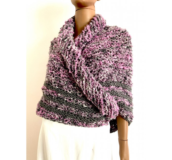 Lilac Claire outlander shawl knit shoulder wrap gray alpaca triangle wool shawl sontag celtic shawl Carolina Shawl outlander  Shawl Alpaca  1