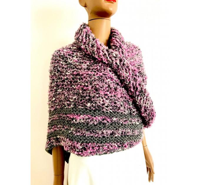 Lilac Claire outlander shawl knit shoulder wrap gray alpaca triangle wool shawl sontag celtic shawl Carolina Shawl outlander  Shawl Alpaca  2