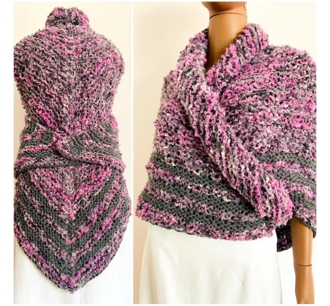 Lilac Claire outlander shawl knit shoulder wrap gray alpaca triangle wool shawl sontag celtic shawl Carolina Shawl outlander  Shawl Alpaca