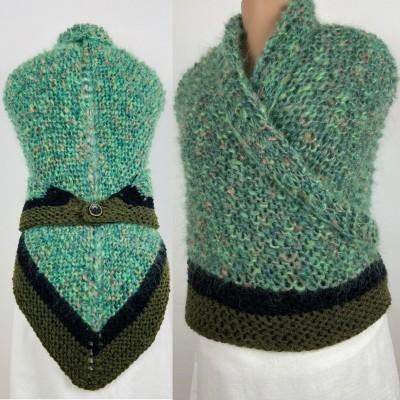 Outlander Claire rent shawl celtic shawl light green triangle alpaca wool shawl knit shoulder wrap sontag winter shawl inspired Carolina Shawl