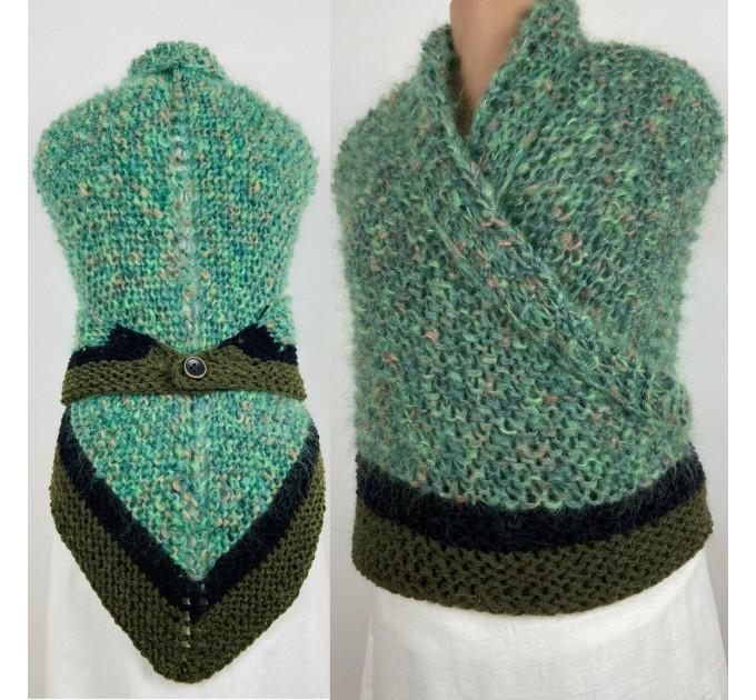Outlander Claire rent shawl celtic shawl light green triangle alpaca wool shawl knit shoulder wrap sontag winter shawl inspired Carolina Shawl  Shawl Alpaca