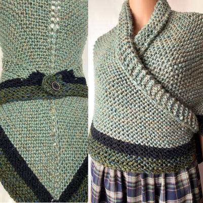 Outlander shawl knit wrap Claire rent shawl winter celtic shawl sontag green triangle alpaca wool shawl Outlander inspired Carolina Shawl