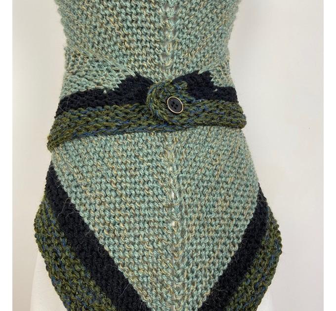Outlander shawl knit wrap Claire rent shawl winter celtic shawl sontag green triangle alpaca wool shawl Outlander inspired Carolina Shawl  Shawl Alpaca  2