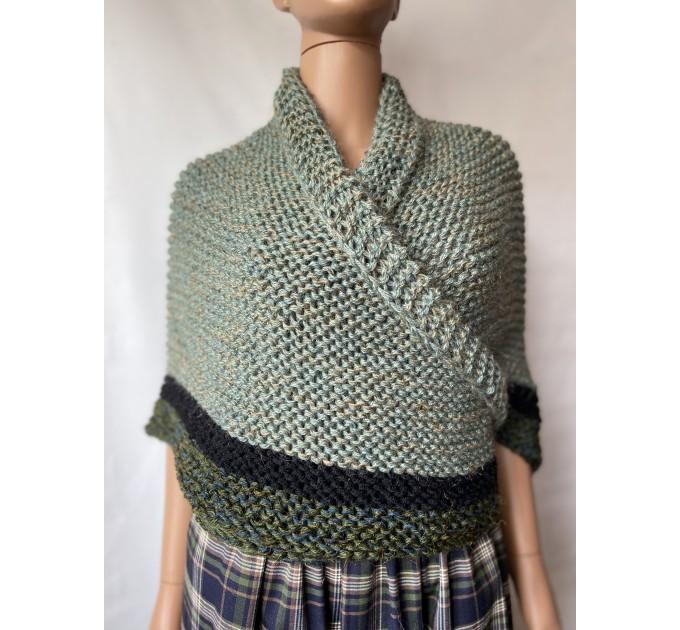 Outlander shawl knit wrap Claire rent shawl winter celtic shawl sontag green triangle alpaca wool shawl Outlander inspired Carolina Shawl  Shawl Alpaca  1