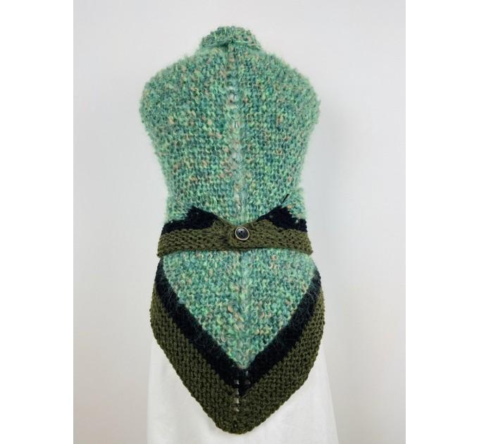Outlander Claire rent shawl celtic shawl light green triangle alpaca wool shawl knit shoulder wrap sontag winter shawl inspired Carolina Shawl  Shawl Alpaca  3