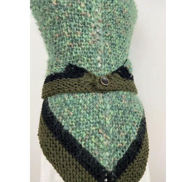 Outlander Claire rent shawl celtic shawl light green triangle alpaca wool shawl knit shoulder wrap sontag winter shawl inspired Carolina Shawl  Shawl Alpaca  4