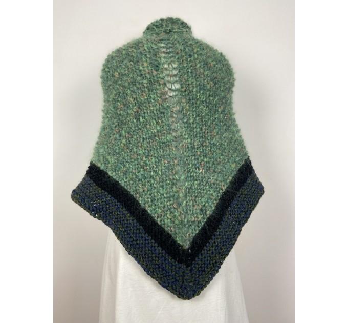 Outlander Claire rent shawl green triangle alpaca wool shawl celtic shawl knit shoulder wrap sontag winter shawl inspired Carolina Shawl  Shawl Alpaca  3