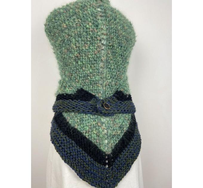 Outlander Claire rent shawl green triangle alpaca wool shawl celtic shawl knit shoulder wrap sontag winter shawl inspired Carolina Shawl  Shawl Alpaca  2