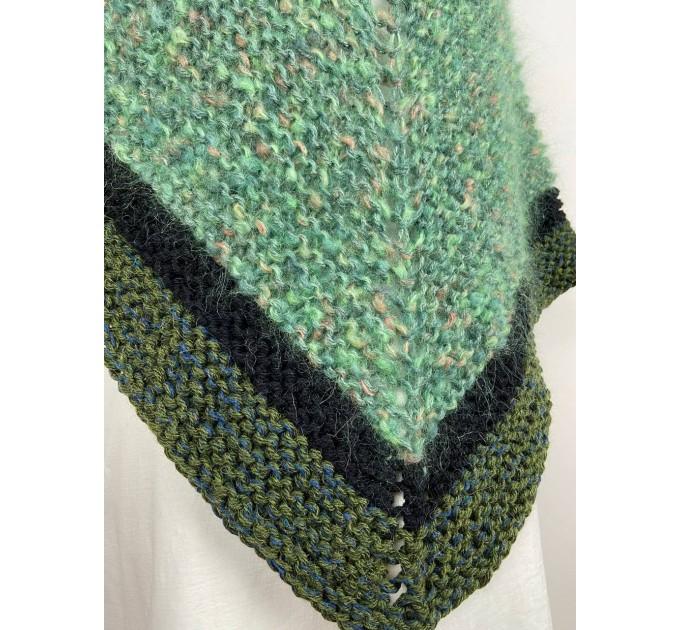 Outlander Claire rent shawl celtic shawl light green triangle alpaca wool shawl knit shoulder wrap sontag winter shawl inspired Carolina Shawl  Shawl Alpaca  5