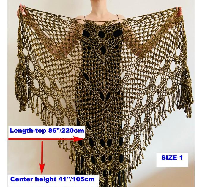Beige shawl for wedding Bridesmaid shawl wedding capelet Wool triangle shawl fringe Lace shawl bridal stole bride winter shawl wrap  Wedding  13