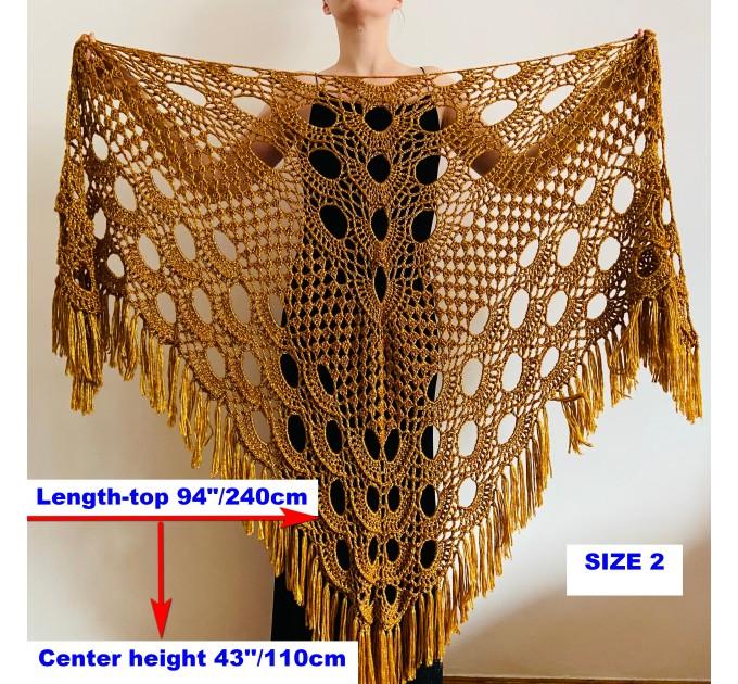 Beige shawl for wedding Bridesmaid shawl wedding capelet Wool triangle shawl fringe Lace shawl bridal stole bride winter shawl wrap  Wedding  14