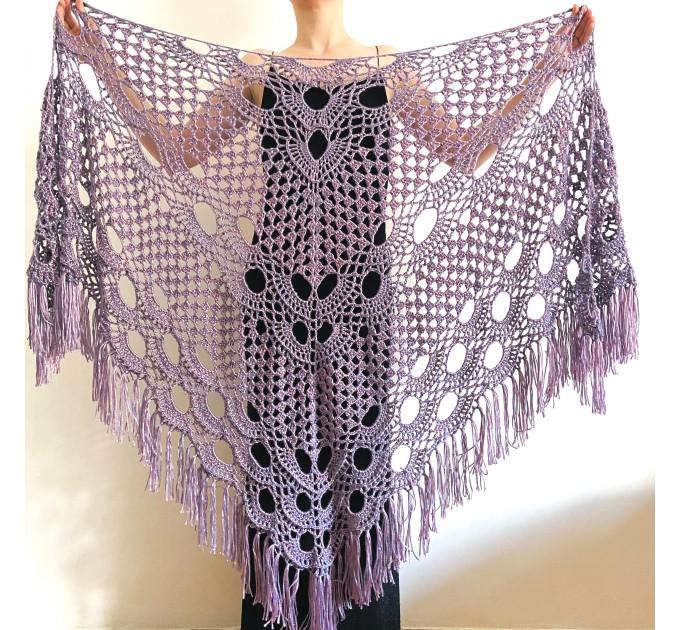 Lilac bridal shawl wool triangle shawl fringe bridesmaid shawl wedding cape bride shawl winter bridal wrap wedding dress shawl bridal cape  Shawl / Wraps